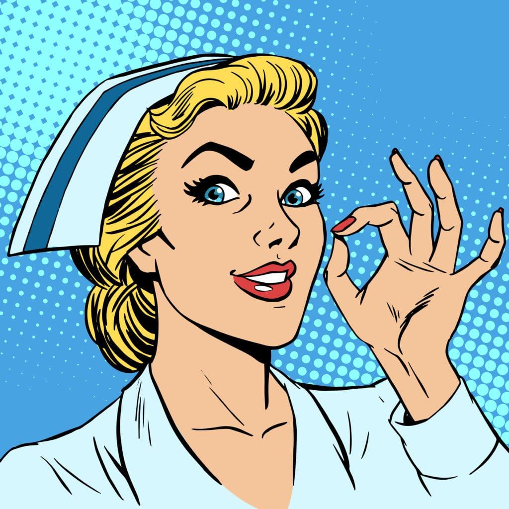Nurse okay gesture